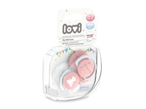 LOVI Smoczki Mini Love 0-2m 22/847 Pink